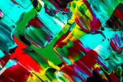 Αφαίρεση ελαιογραφίας, φωτεινά χρώματα Υπόβαθρο Στοκ Εικόνες