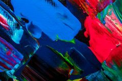 Αφαίρεση ελαιογραφίας, φωτεινά χρώματα Υπόβαθρο Στοκ Φωτογραφία