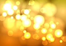 Αφαίρεση με τους φωτεινούς κύκλους Στοκ Εικόνες