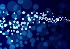 Αφαίρεση με τους φωτεινούς κύκλους Στοκ Φωτογραφίες