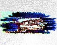 αφαίρεση Περίληψη ζωγραφική εικόνα σύσταση διανυσματική απεικόνιση