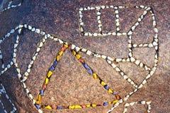 Αφαίρεση σε μια πέτρα Στοκ φωτογραφία με δικαίωμα ελεύθερης χρήσης