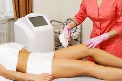 Αφαίρεση τρίχας λέιζερ Cosmetology υλικού στοκ εικόνες με δικαίωμα ελεύθερης χρήσης