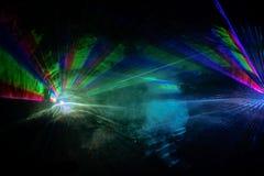 Αφαίρεση των ακτίνων λέιζερ 7 χρώματος Στοκ φωτογραφία με δικαίωμα ελεύθερης χρήσης