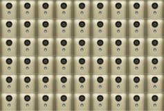 Αφαίρεση των κινητών τηλεφωνικών καμερών χρυσό χρώμα Στοκ Εικόνες
