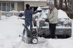 Αφαίρεση χιονιού στοκ φωτογραφία με δικαίωμα ελεύθερης χρήσης