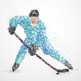 Αφαίρεση, χόκεϋ, πάγος, σφαίρα Στοκ Εικόνες