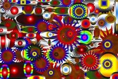 αφαίρεση Όμορφος και εορταστικός χρωματισμένο αστέρι Μαύρη ανασκόπηση απεικόνιση αποθεμάτων