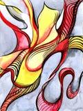 Αφαίρεση watercolor χορού Στοκ Εικόνα