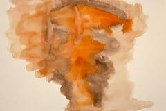 Αφαίρεση Watercolor ως θολωμένο υπόβαθρο σε χαρτί Σχέδιο για το μ ενός αφηρημένου σχεδίου των θερμών χρωμάτων διανυσματική απεικόνιση
