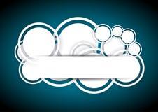 Αφαιρέστε την μπλε ανασκόπηση με τους κύκλους ελεύθερη απεικόνιση δικαιώματος