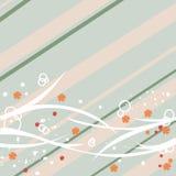 αφαιρέστε τη floral κρητιδογραφία σχεδίου διανυσματική απεικόνιση