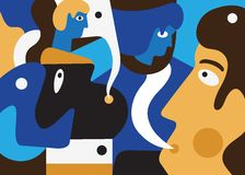 αφαιρέστε τους ανθρώπο&upsilon Στοκ εικόνες με δικαίωμα ελεύθερης χρήσης