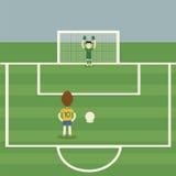 αφαιρέστε το ποδόσφαιρο ποινικής ρήτρας λακτίσματος ποδοσφαίρου ανασκοπήσεων ελεύθερη απεικόνιση δικαιώματος