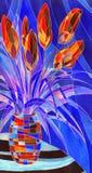 αφαιρέστε vase λουλουδιών διανυσματική απεικόνιση