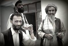 αφγανικό τσάι ατόμων κατανάλωσης Στοκ φωτογραφία με δικαίωμα ελεύθερης χρήσης
