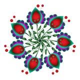 Αφελής floral ανασκόπηση vectror κύκλων Στοκ εικόνα με δικαίωμα ελεύθερης χρήσης