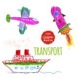 Αφελές σχέδιο παιδιών Στοκ φωτογραφία με δικαίωμα ελεύθερης χρήσης