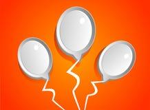 Αφηρημένα άσπρα μπαλόνια Στοκ Εικόνες
