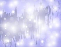 Αφηρημένα λαμπιρίζοντας αστέρια στο μπλε υπόβαθρο διακοπών Στοκ Φωτογραφίες
