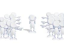 Αφηρημένα ανθρώπινα εικονίδια Στοκ Φωτογραφίες