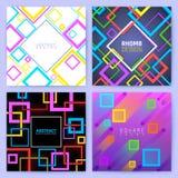 Αφηρημένα γεωμετρικά διανυσματικά υπόβαθρα με τα τετράγωνα χρώματος Δημιουργικό πρότυπο επιχειρησιακών φυλλάδιων σχεδίου ελεύθερη απεικόνιση δικαιώματος