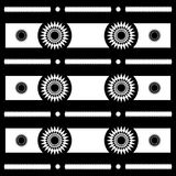 Αφηρημένα γεωμετρικά σχέδια μοτίβου ήλιων σε γραπτό, διάνυσμα Στοκ φωτογραφία με δικαίωμα ελεύθερης χρήσης