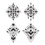 Αφηρημένα γεωμετρικά των Αζτέκων σχέδια καθορισμένα Στοκ εικόνα με δικαίωμα ελεύθερης χρήσης