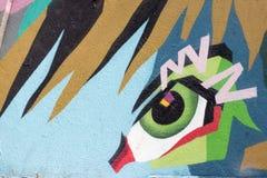 Αφηρημένα γκράφιτι από έναν μη αναγνωρισμένο καλλιτέχνη στον τοίχο Στοκ φωτογραφία με δικαίωμα ελεύθερης χρήσης