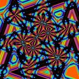 Αφηρημένα γκράφιτι τριγώνων ουράνιων τόξων στα χρώματα νέου Στοκ εικόνα με δικαίωμα ελεύθερης χρήσης