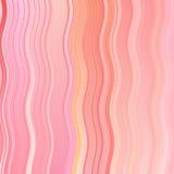 Αφηρημένα γραμμή κυμάτων κόκκινου χρώματος και υπόβαθρο λωρίδων με το ζωηρόχρωμο σχέδιο γραμμών και λωρίδων κλίσης Στοκ Εικόνα