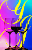 αφηρημένα γυαλιά τρία κρασί Στοκ φωτογραφία με δικαίωμα ελεύθερης χρήσης