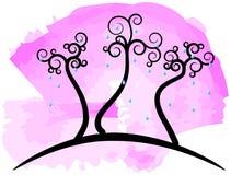 αφηρημένα δέντρα ελεύθερη απεικόνιση δικαιώματος