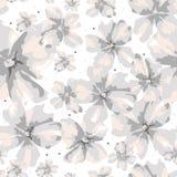Αφηρημένα διαφορετικά γκρίζα και ρόδινα λουλούδια μεγέθους στο άσπρο υπόβαθρο ελεύθερη απεικόνιση δικαιώματος