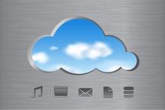 αφηρημένα εικονίδια έννοιας υπολογισμού σύννεφων Στοκ Φωτογραφία