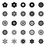 Αφηρημένα εικονίδια λουλουδιών καθορισμένα Στοκ Εικόνες