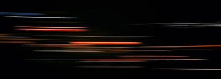Αφηρημένα ελαφριά ίχνη στο σκοτάδι Στοκ φωτογραφία με δικαίωμα ελεύθερης χρήσης