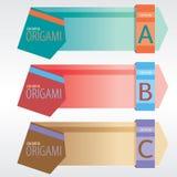 Αφηρημένα εμβλήματα Origami. Στοκ Εικόνες