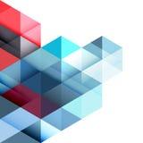 Αφηρημένα ζωηρόχρωμα γεωμετρικά και σύγχρονα επικαλύπτοντας τρίγωνα στο λευκό απεικόνιση αποθεμάτων