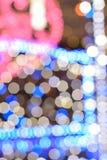 Αφηρημένα ζωηρόχρωμα θολωμένα νέα φω'τα φωτισμού έτους Στοκ Φωτογραφία