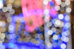 Αφηρημένα ζωηρόχρωμα θολωμένα νέα φω'τα φωτισμού έτους Στοκ Εικόνα