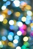 Αφηρημένα ζωηρόχρωμα θολωμένα νέα φω'τα φωτισμού έτους Στοκ Εικόνες