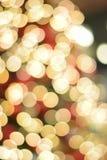 Αφηρημένα ζωηρόχρωμα θολωμένα φω'τα φωτισμού Χριστουγέννων Στοκ Φωτογραφία