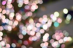 Αφηρημένα ζωηρόχρωμα θολωμένα φω'τα φωτισμού Χριστουγέννων Στοκ Εικόνες