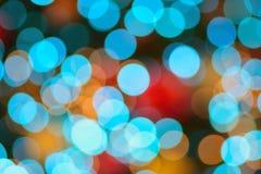Αφηρημένα ζωηρόχρωμα θολωμένα φω'τα φωτισμού Χριστουγέννων Στοκ εικόνα με δικαίωμα ελεύθερης χρήσης