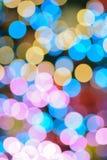 Αφηρημένα ζωηρόχρωμα θολωμένα φω'τα φωτισμού Χριστουγέννων Στοκ Εικόνα