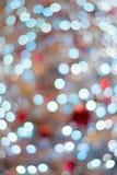Αφηρημένα ζωηρόχρωμα θολωμένα φω'τα φωτισμού Χριστουγέννων Στοκ Φωτογραφίες