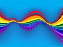 Αφηρημένα ζωηρόχρωμα κύματα ουράνιων τόξων Στοκ Φωτογραφία