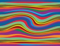 Αφηρημένα ζωηρόχρωμα μεγάλα κύματα που γίνονται στον υπολογιστή ελεύθερη απεικόνιση δικαιώματος