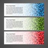 Αφηρημένα ζωηρόχρωμα οριζόντια εμβλήματα διανυσματική απεικόνιση
